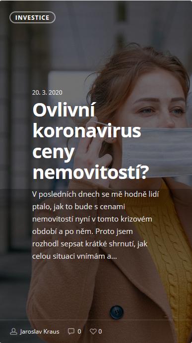 Ovlivní koronavirus ceny nemovitostí?